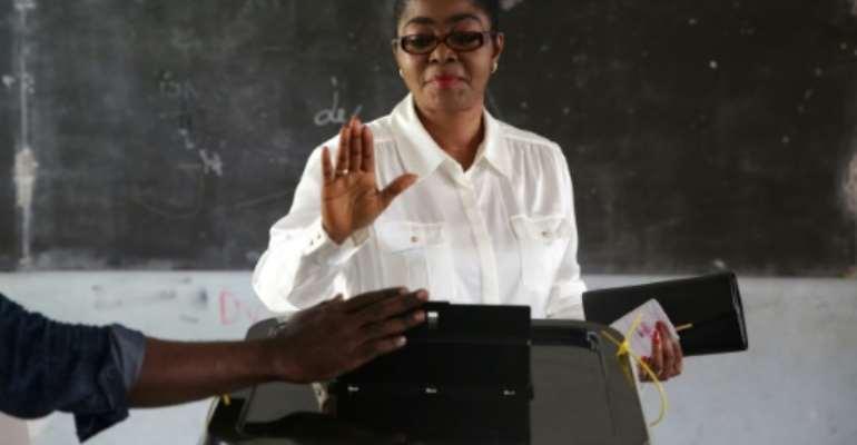 Gabon's new defence minister is Rose Christiane Ossouka Raponda, the mayor Libreville.  By Joel TATOU (AFP/File)