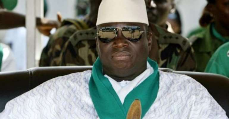 Yahya Jammeh, pictured in 2006.  By Seyllou Diallo (AFP/File)