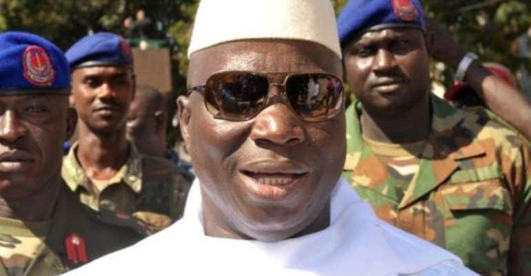 Yahya Jammeh.  By Seyllou (AFP)