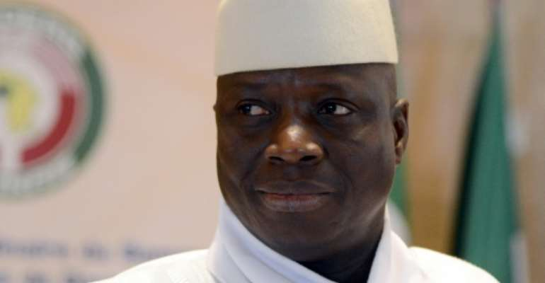 Gambia's vetern leader Yahya Jammeh (pictured) spent hours with Guinea and Mauritania's presidents on Friday in Banjul, where agreement was reached that he would hand power to Adama Barrow.  By ISSOUF SANOGO (AFP/File)