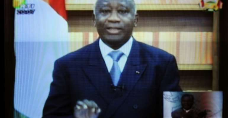 Gbagbo helped Ivory Coast's drive to a multi-party democracy, became its elected president and then, pictured above in December 2011, refused to concede defeat at the ballot box.  By ISSOUF SANOGO (AFP/File)