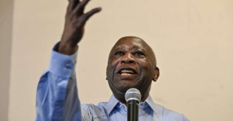 Gbagbo returned to the political spotlight in June after nearly a decade abroad, and being tried and acquitted of crimes against humanity by the ICC.  By Sia KAMBOU (AFP)