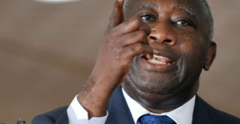 Then Ivory Coast president Laurent Gbagbo, pictured in September 2010 in Abidjan.  By Sia Kambou (AFP/File)