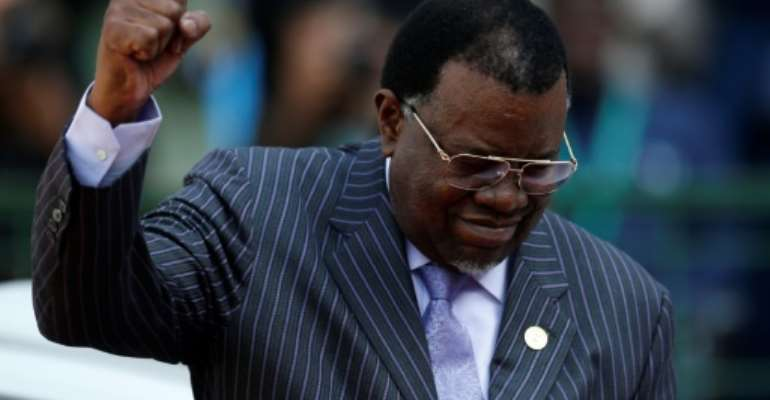 Geingob had lived in exile when Namibia was under South African rule.  By SIPHIWE SIBEKO (POOL/AFP/File)