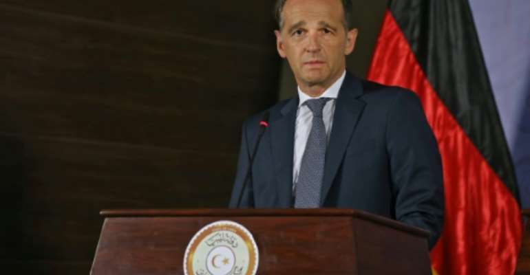 German Foreign Minister Heiko Maas in Tripoli warned of a 'deceptive calm' in Libya.  By Mahmud TURKIA (AFP)