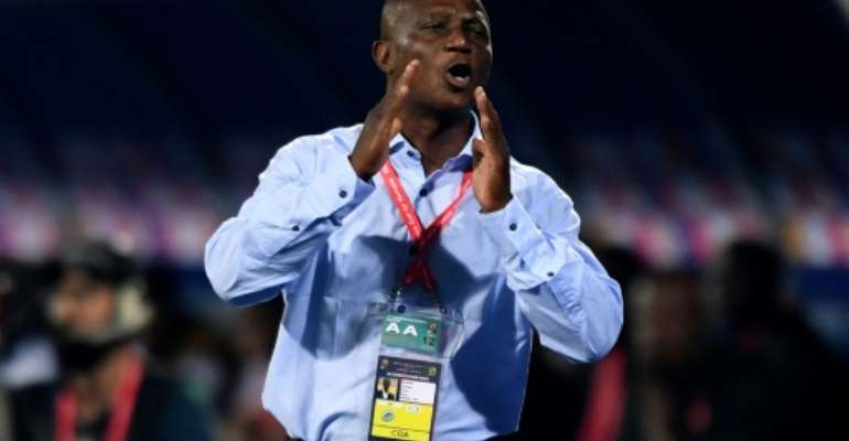 Ghana coach Kwesi Appiah gives instructions during a 2-2 draw with Benin in the Africa Cup of Nations.  By OZAN KOSE (AFP)