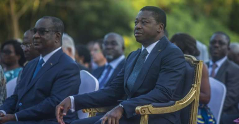 Gnassingbe has been in power for nearly 15 years since succeeding his father Eyadema Gnassingbe, who had led the small West African country with an iron fist for 38 years.  By Yanick Folly (AFP/File)