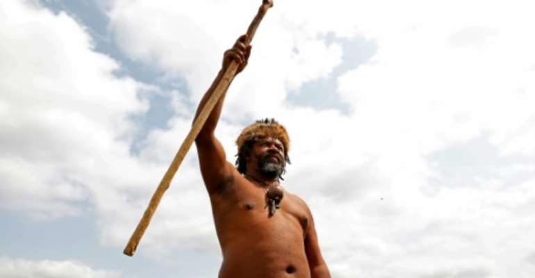 Grievance: King Khoisan South Africa.  By Phill Magakoe (AFP)