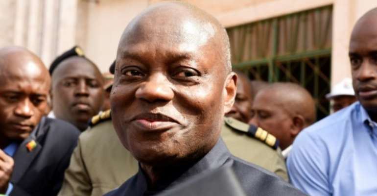 Guinea Bissau's president Jose Mario Vaz (pictured March 2019) has refused to name his estranged eputy Domingos Santos Pereira as prime minister.  By SEYLLOU (AFP/File)