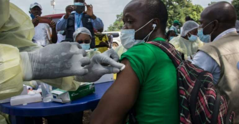 Guinea used the vaccines to combat an Ebola outbreak earlier this year.  By CAROL VALADE (AFP/File)