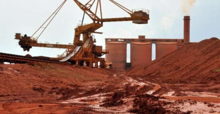 The Guinea Bauxite Company's 2,270 employees have demanded higher salaries.  By Georges Gobet (AFP/File)