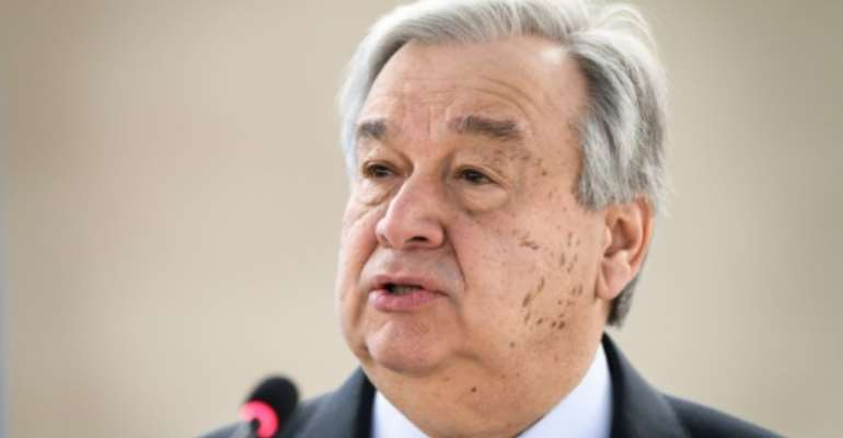 Guterres will visit a centre for demobilised militia fighters and Ebola treatment units.  By Fabrice COFFRINI (AFP/File)