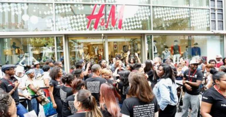 The H and M Fulton Street store opens on July 3, 2013 in the Brooklyn borough of New York City.  By Cindy Ord (Getty Images/AFP/File)
