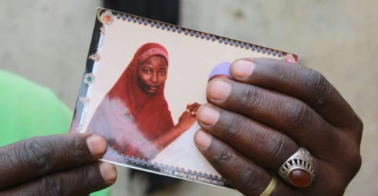 Hauwa was one of the 276 schoolgirls kidnapped by Boko Haram on April 14, 2014.  By Audu Ali MARTE (AFP)