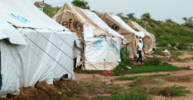 Haven: Hitsats refugee camp houses more than 13,000 people who have fled Eritrea.  By VINCENT DEFAIT (AFP/File)