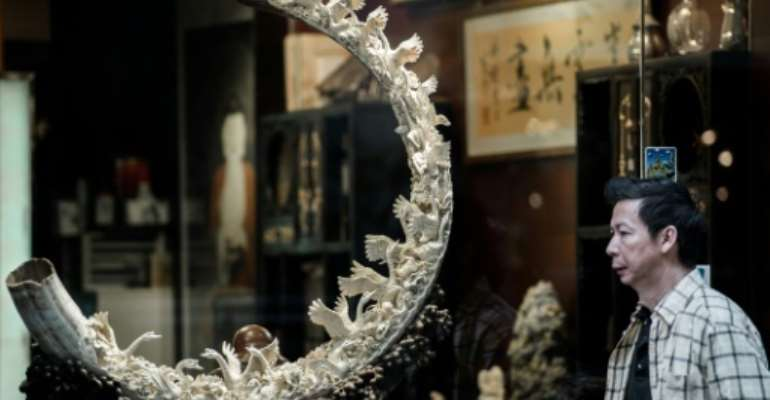 Hong Kong is a major hub for ivory sales and announced last year that it would ban the import and export of the goods, but later clarified it would only completely abolish the trade by 2021.  By PHILIPPE LOPEZ (AFP/File)