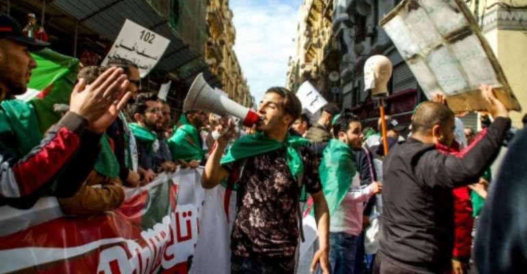 Huge protests have been held across Algeria demanding ailing President Abdelaziz Bouteflika leave power.  By - (AFP)
