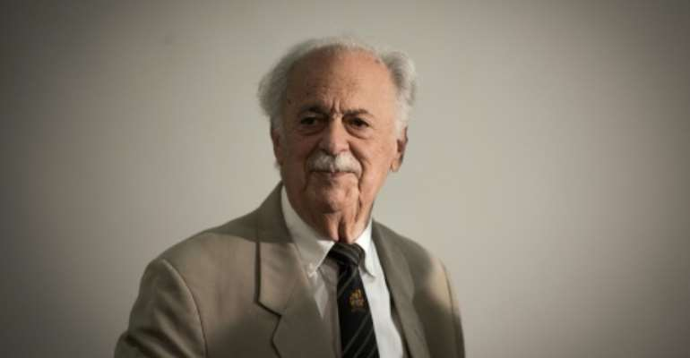 Human rights lawyer George Bizos, who has died at the age of 92.  By GULSHAN KHAN (AFP/File)