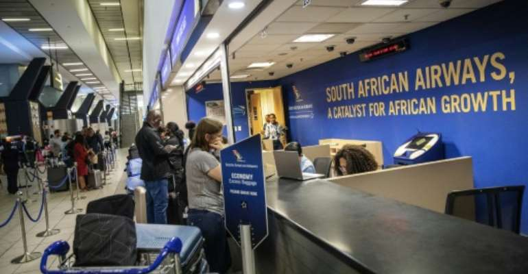 Hundreds of SAA flights have been cancelled.  By Michele Spatari (AFP)