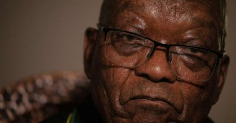 'I wear the badge of being a political prisoner with the greatest pride,' said Zuma.  By Emmanuel Croset (AFP/File)