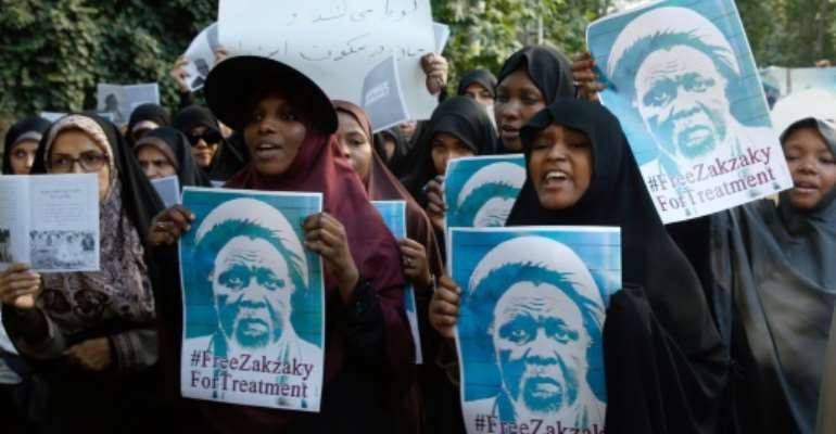 Ibrahim Zakzaky's followers have staged regular protests calling for his release.  By - (afp/AFP/File)