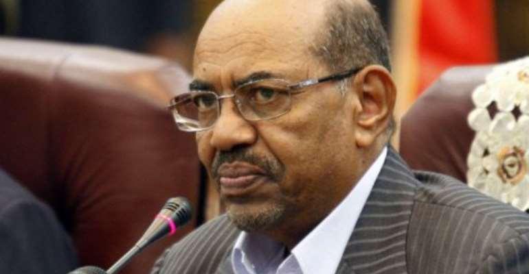 Sudan's President Omar al-Bashir on September 3, 2013 in Khartoum.  By Ashraf Shazly (AFP/File)
