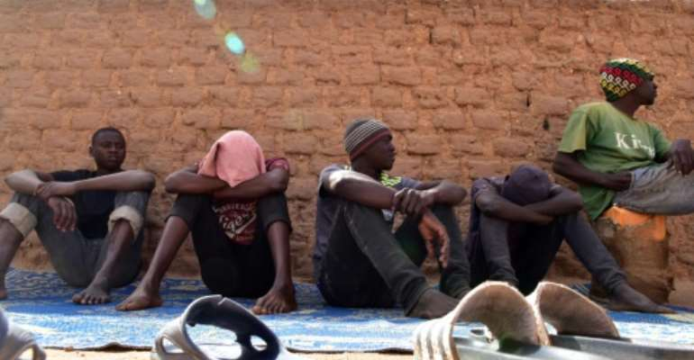 In Agadez, a city in central Niger, migrants are held in very basic