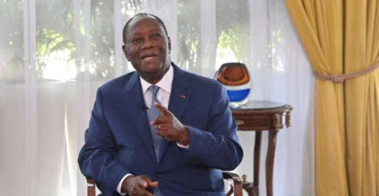 In an interview with AFP, Ouattara said the opposition's campaign of disobedience was 'sending young people to their deaths'.  By Issouf SANOGO (AFP)