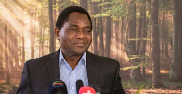 In his sixth bid for the presidency, Hakainde Hichilema defeated the incumbent Edgar Lungu, 64, by almost one million votes.  By Patrick Meinhardt (AFP/File)