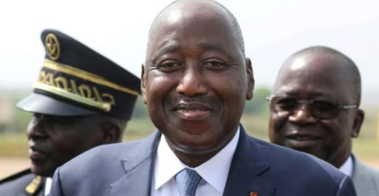 In self-quarantine: Ivory Coast Prime Minister Amadou Gon Coulibaly.  By Ludovic MARIN (AFP)