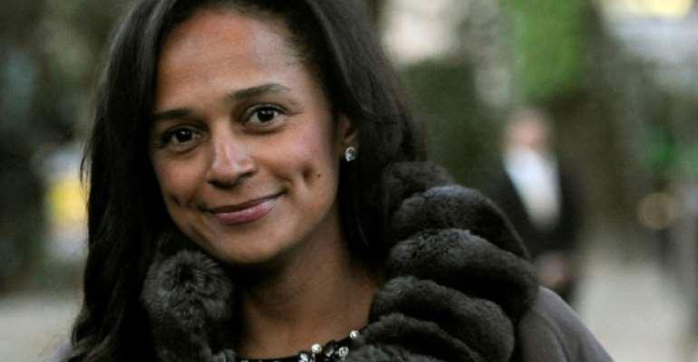 In the spotlight: Isabel dos Santos.  By FERNANDO VELUDO (PUBLICO/AFP/File)
