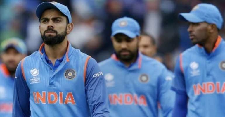 India's captain Virat Kohli leads his team off the field after Sri Lanka won their match by seven wickets with eight balls remaining, during the ICC Champions Trophy at The Oval in London, on June 8, 2017.  By Ian KINGTON (AFP/File)