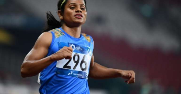 India's Dutee Chand has criticised South African runner Caster Semenya's court defeat over her high testosterone levels..  By Jewel SAMAD (AFP)