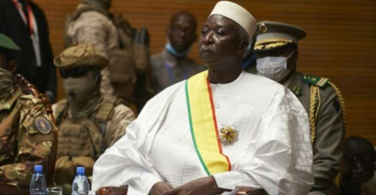 Interim president Bah Ndaw was sworn in in televised ceremonies at a conference centre in Bamako.  By MICHELE CATTANI (AFP)
