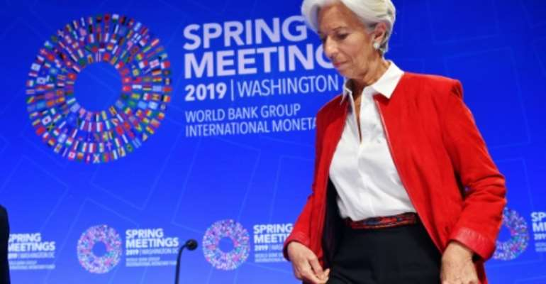 International Monetary Fund Managing Director Christine Lagarde says the IMF is working to collect data on the rising amount of loans to developing countries, including from China.  By MANDEL NGAN (AFP)