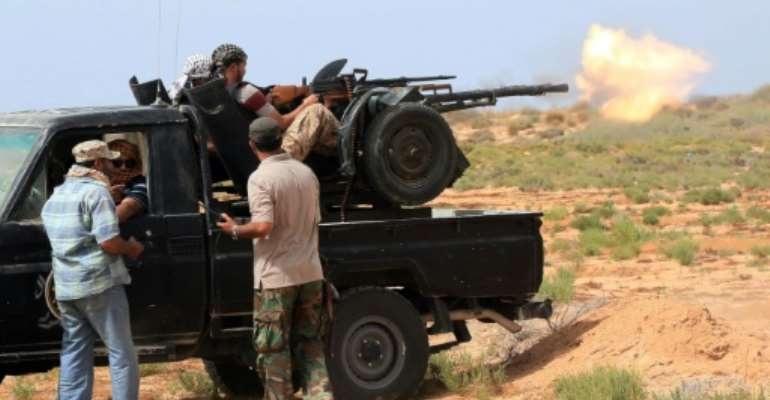 Forces loyal to Libya's UN-backed unity government launched an operation to drive Islamic State fighters out of Sirte on May 12.  By Mahmud Turkia (AFP/File)