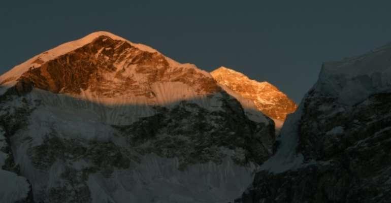 It is currently peak climbing season on Mount Everest.  By PRAKASH MATHEMA (AFP/File)