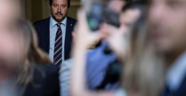Italian Interior Minister Matteo Salvini says his comments referring to Africans as slaves were misinterpreted.  By MARCO BERTORELLO (AFP/File)