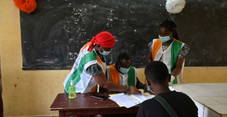 Ivory Coast election officials began registering voters in June.  By Issouf SANOGO (AFP/File)