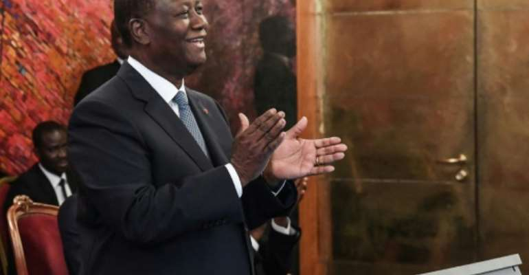 Ivory Coast president Alassane Ouattara (pictured August 2019) said if his historic rivals