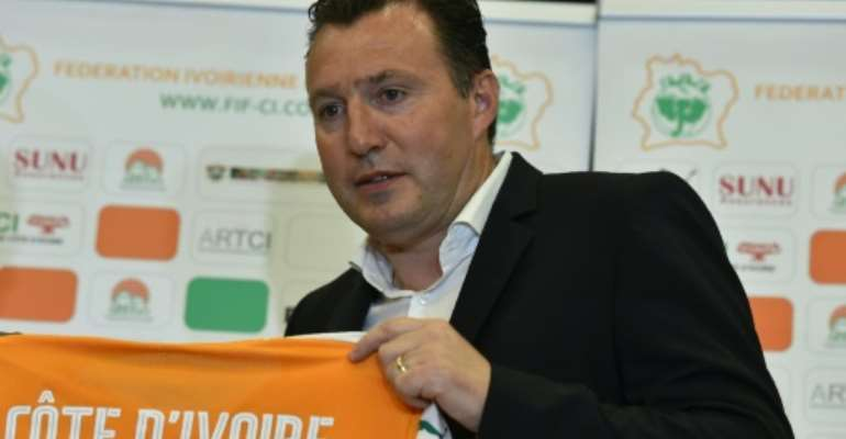 Ivory Coast's national football team coach Belgian Marc Wilmots poses in March 2017.  By ISSOUF SANOGO (AFP/File)