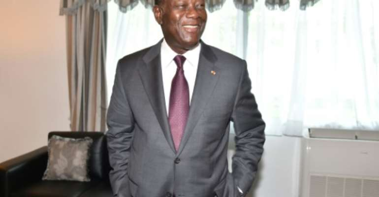 Ivory Coast's President Alassane Ouattara has been elected to a contested third term.  By ISSOUF SANOGO (AFP/File)