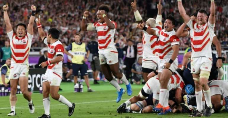 Japan's rugby players have captured the nation's imagination with their fairy-tale run at the world cup.  By William WEST (AFP/File)