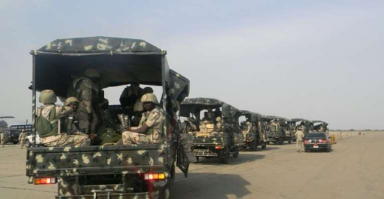 Jihadist fighters have since July last year targeted dozens of Nigerian military bases.  By Victor Ulasi (AFP/File)