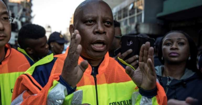 Johannesburg Mayor Herman Mashaba has resigned and quit the DA party in a row over race.  By MARCO LONGARI (AFP)