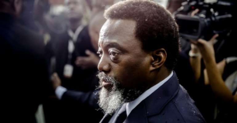 Kabila stepped down in January 2019 after 18 years at the helm of the Democratic Republic of Congo.  By Luis TATO (AFP)
