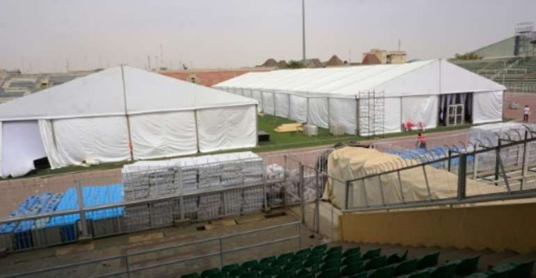 Kano authorities raced to build an isolation centre at a sports stadium as coronavirus spread. The facility was built with donations from Kano-born tycoon and philanthropist Aliko Dangote.  By AMINU ABUBAKAR (AFP)