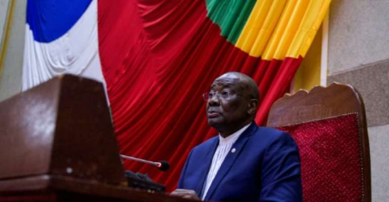 Karim Meckassoua, ousted as president of Central Africa's National Assembly, has vowed to challenge the move in the courts.  By Charles BOUESSEL (AFP/File)