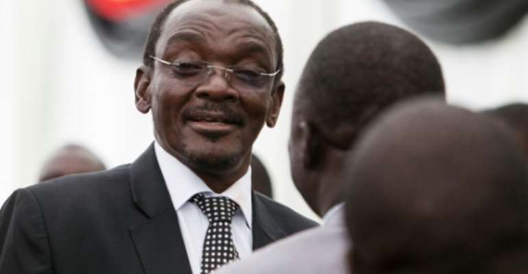 Kembo Mohadi became one of Zimbabwe's two vice presidents in 2017 after former leader Robert Mugabe was ousted.  By Wilfred Kajese (AFP/File)