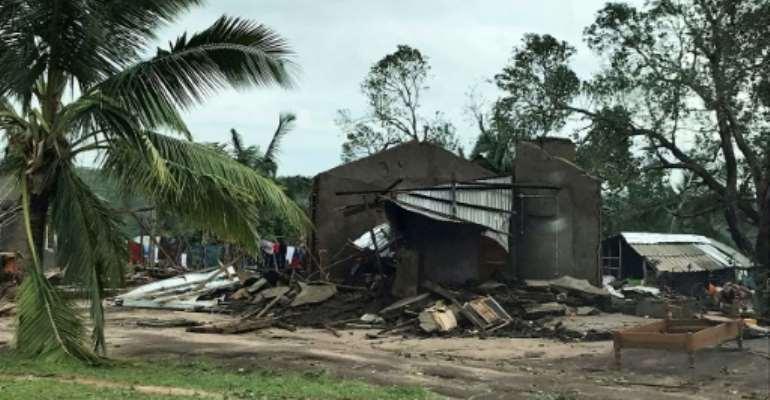 Kenneth destroyed or damaged 3,300 homes.  By Nour Hemici (WFP/AFP/File)